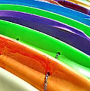 Waiting Kayaks Art Print