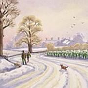 Walk In The Snow Art Print by Lavinia Hamer