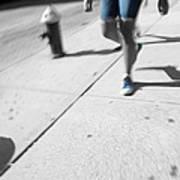 Walking Blues Art Print