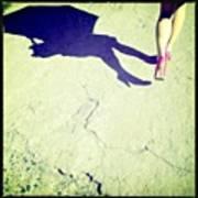 Walking Like A Lady. #hipstamatic Art Print