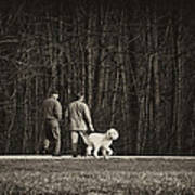 Walking The Dog Art Print by Off The Beaten Path Photography - Andrew Alexander