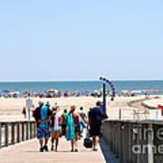 Walking To The Beach Art Print