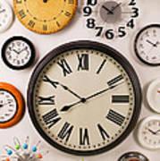 Wall Clocks Art Print