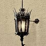 Wall Lamp Sepia Art Print