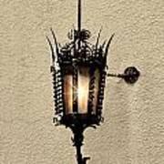 Wall Lamp Umber Sepia Art Print