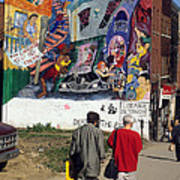 Wall Mural In Montreal Art Print