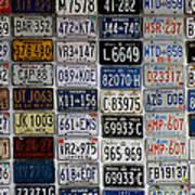 Wall Of License Plates Art Print