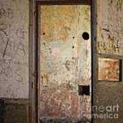 Walls With Graffiti In An Abandoned House. Art Print