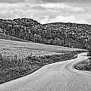 Wandering In West Virginia Monochrome Art Print