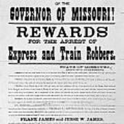 Wanted Poster, 1881 Art Print