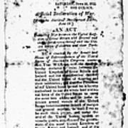 War Of 1812: Broadside Art Print