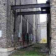 Warehouse Beams And Grafitti Art Print