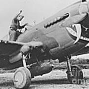 Warhawk P40 1943 Art Print
