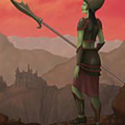 Warrior Princess Of Skorden Art Print