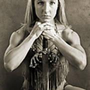 Warrior Woman Print by Cindy Singleton