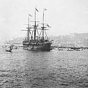 Warship Kaiser On Which Kaiser Wilhelm II Of Germany Came To Istanbul Art Print