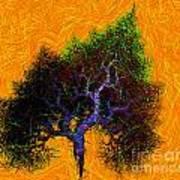 Was A Crooked Tree  Grunge Art Art Print