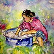 Washerwoman Beauty Art Print