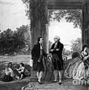 Washington And Lafayette, Mount Vernon Art Print