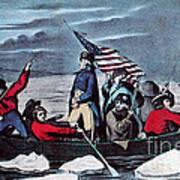 Washington Crossing The Delaware, 1776 Art Print