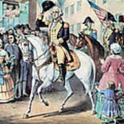 Washington Enters New York City After Art Print