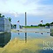 Washington Monument And The World War II Memorial Art Print