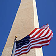 Washington Monument Flag Art Print