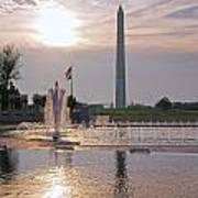 Washington Monument From The World War II Memorial Art Print