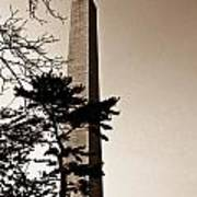 Washington Monument In Sepia Art Print