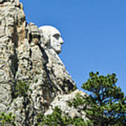 Washinton On Mt Rushmore Art Print
