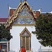 Wat Benchamabophit Monks Residence Dthb187 Art Print