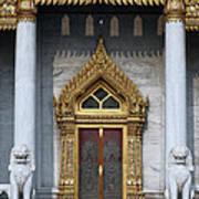 Wat Benchamabophit Ubosot Front Entrance Dthb1242 Art Print