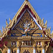 Wat Chai Mongkol Ubosot Gable Dthu609 Art Print