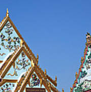 Wat Chamni Hatthakan Gables Dthb934 Art Print