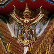 Wat Hua Lamphong Ubosot Roof Garuda Dthb1065 Art Print