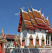 Wat Huai Phai Ubosot And Compound Dthu096 Art Print