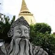 Wat Phrakaew Guardian Art Print