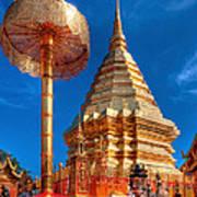Wat Phrathat Doi Suthep Art Print
