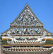 Wat Ratcha Orasaram Temple Gate And Ubosot Gable Dthb858 Art Print