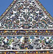 Wat Ratcha Orasaram Ubosot Gable Detail Dthb428 Art Print