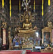 Wat Ratcha Orasaram Ubosot Interior Dthb859 Art Print