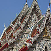 Wat Suan Phlu Ubosot Gable Dthb1132 Art Print