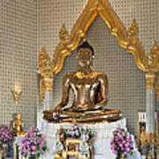 Wat Traimit Golden Buddha Dthb964 Art Print