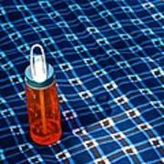 Water Bottle On A Blanket Art Print