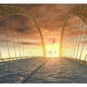 Water Bridge Art Print