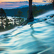Water Flow Above Emerald Bay Art Print