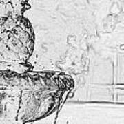 Water Fountain 1 Art Print