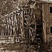 Water Mill In Action Print by Douglas Barnett