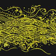 Water Pattern Art Print by Setsiri Silapasuwanchai