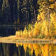 Water Reflection At Jade Lake In Northern Saskatchewan Art Print